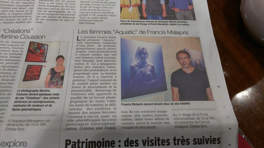 Newspaper about exhibition in Chabeuil (France)